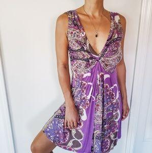 Flowing v-neck summer dress - zara